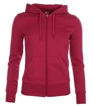 ESS Hooded Sweat Jacket. Fleece cerise